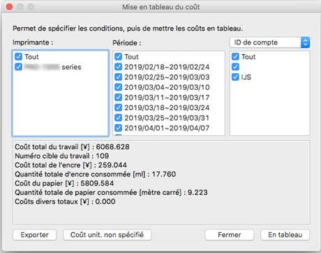 Canon Manuels Imageprograf Logiciel Mac Os Guide Accounting Manager Exportation Des Resultats De Mise En Tableau Du Cout Vers Un Fichier Csv