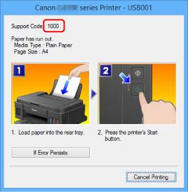 Canon : PIXMA Manuals : G3000 series : An Error Occurs