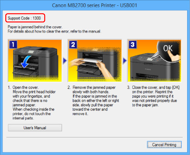 Canon : MAXIFY Manuals : MB2700 series : Paper Jams