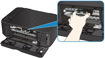 Canon : PIXMA Manuals : MG3500 series : Paper Is Jammed inside the