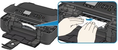 canon pixma printer how to clear paper jam