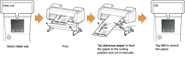 Canon:imagePROGRAF Manuals:PRO-4000:Specifying the Cutting