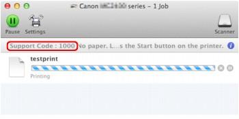 Imagen: mensaje de error en Mac OS X v.10.8.x