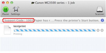 Canon : PIXMA Manuals : MG3500 series : If an Error Occurs