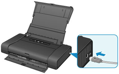 キヤノン:PIXUS マニュアル iP110 series パソコンと本製品をUSBで接続するときは