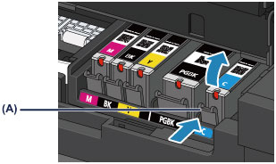 Canon : PIXMA Manuals : MX920 series : Replacing an Ink Tank