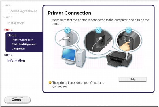 how to connect computer to canon printer mac