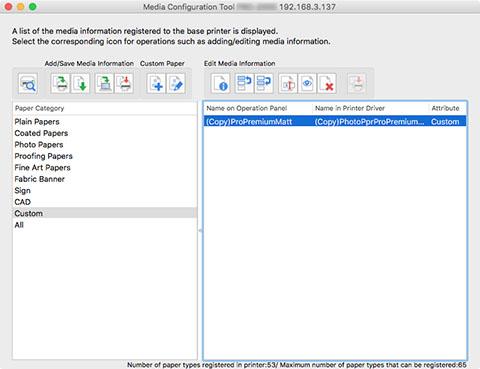Canon : imagePROGRAF Manuals : Mac OS Software : Media