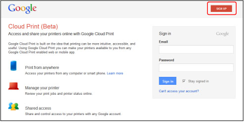Canon PIXMA Manuals Preparations For Printing With Google Cloud